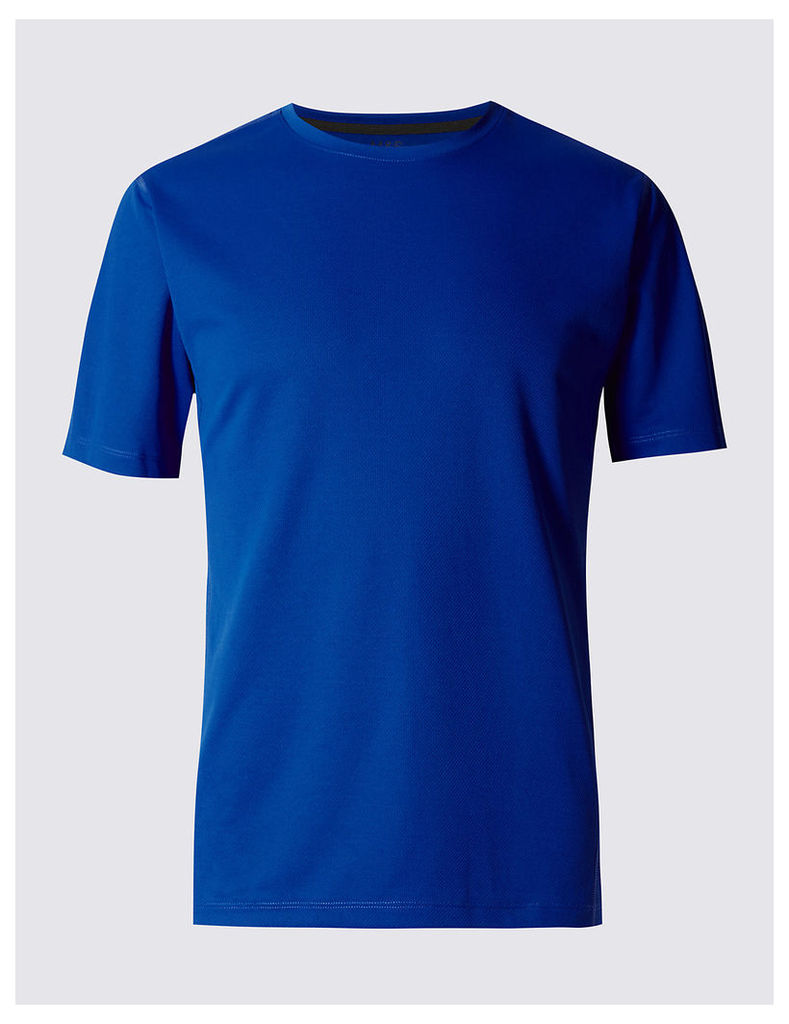 M&S Collection Quick Dry Active Mesh T-shirt with Reflective Trim