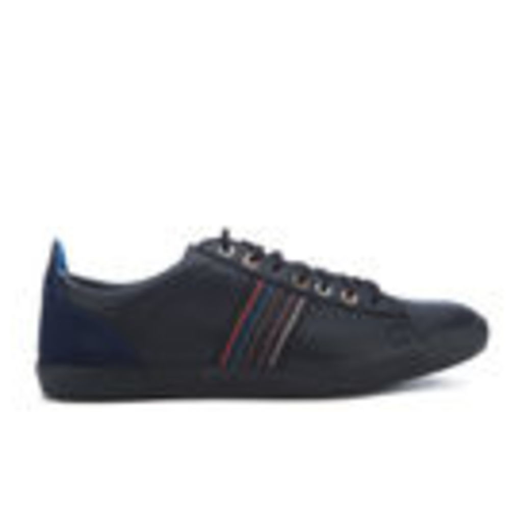 PS by Paul Smith Men's Osmo Leather Trainers - Black Mono Lux - UK 11