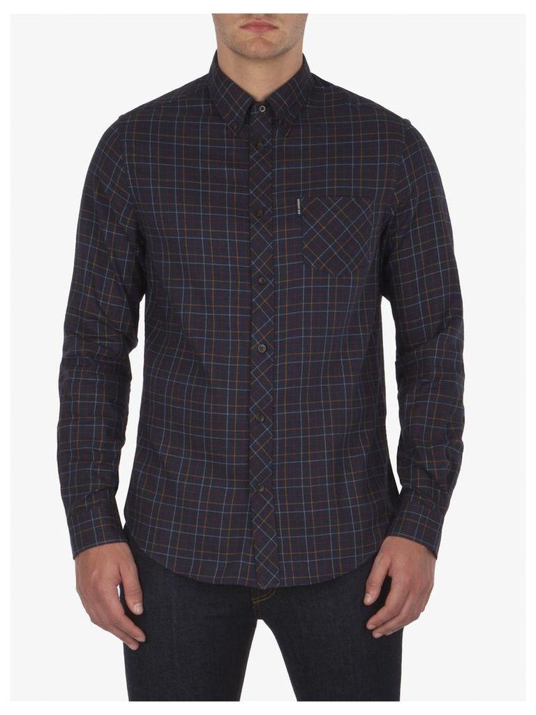 Tattersal Check Shirt Sml Navy Blazer