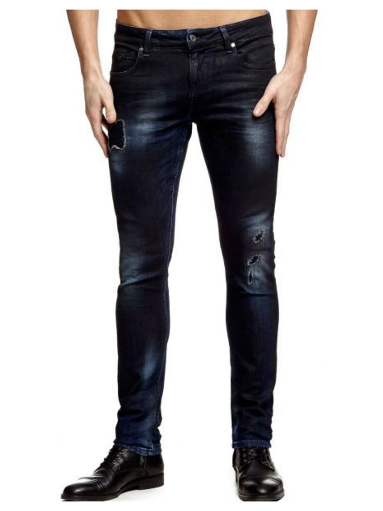 Guess Superskinny Jeans With Patches