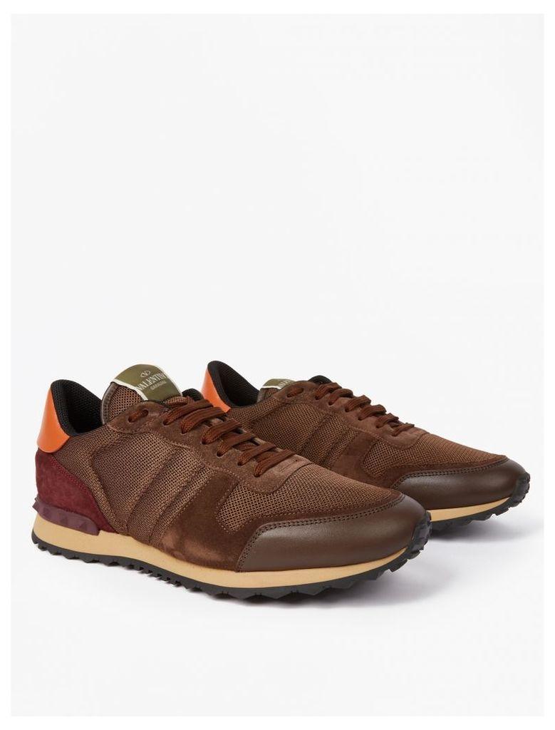 Brown Suede Running Sneakers