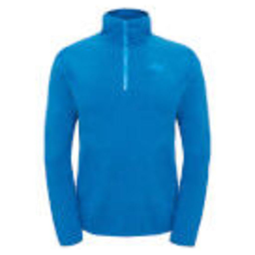 The North Face Men's 100 Glacier 1/4 Zip Fleece - Banoff Blue