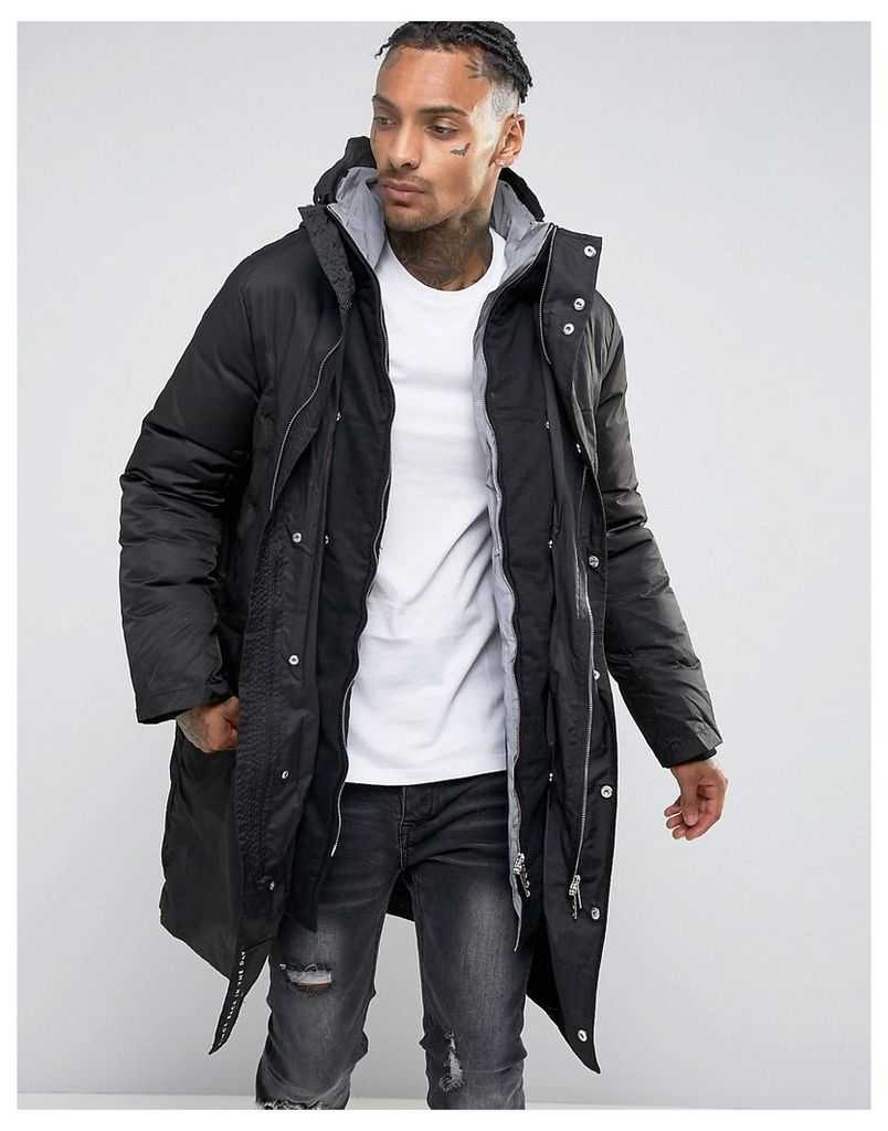 Criminal Damage Padded Parka - Black