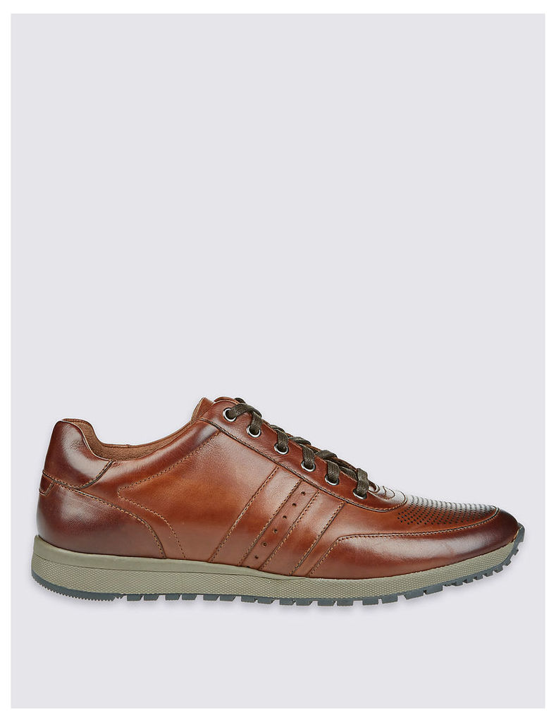 M&S Collection Leather Lace-up Trainers