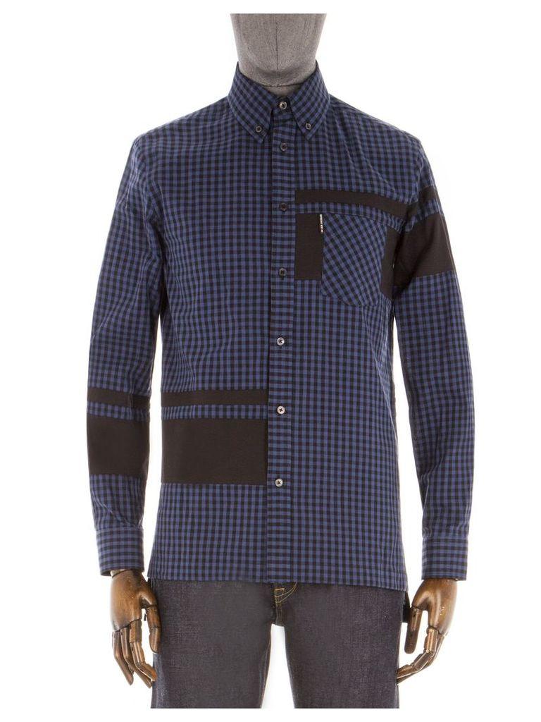 The Gingham Blocked Shirt Med Blue
