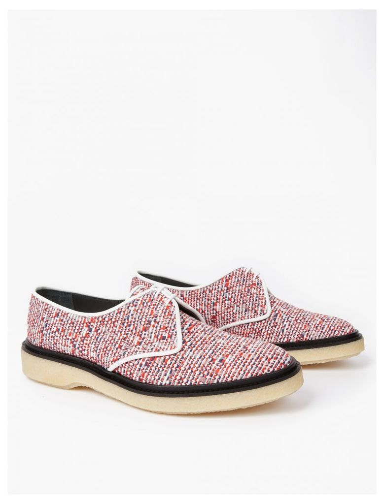 Red Woven Type 1 Derby Shoes