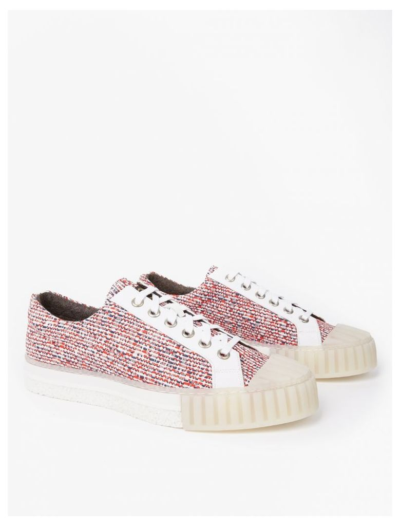 Red W.O. Woven Sneakers