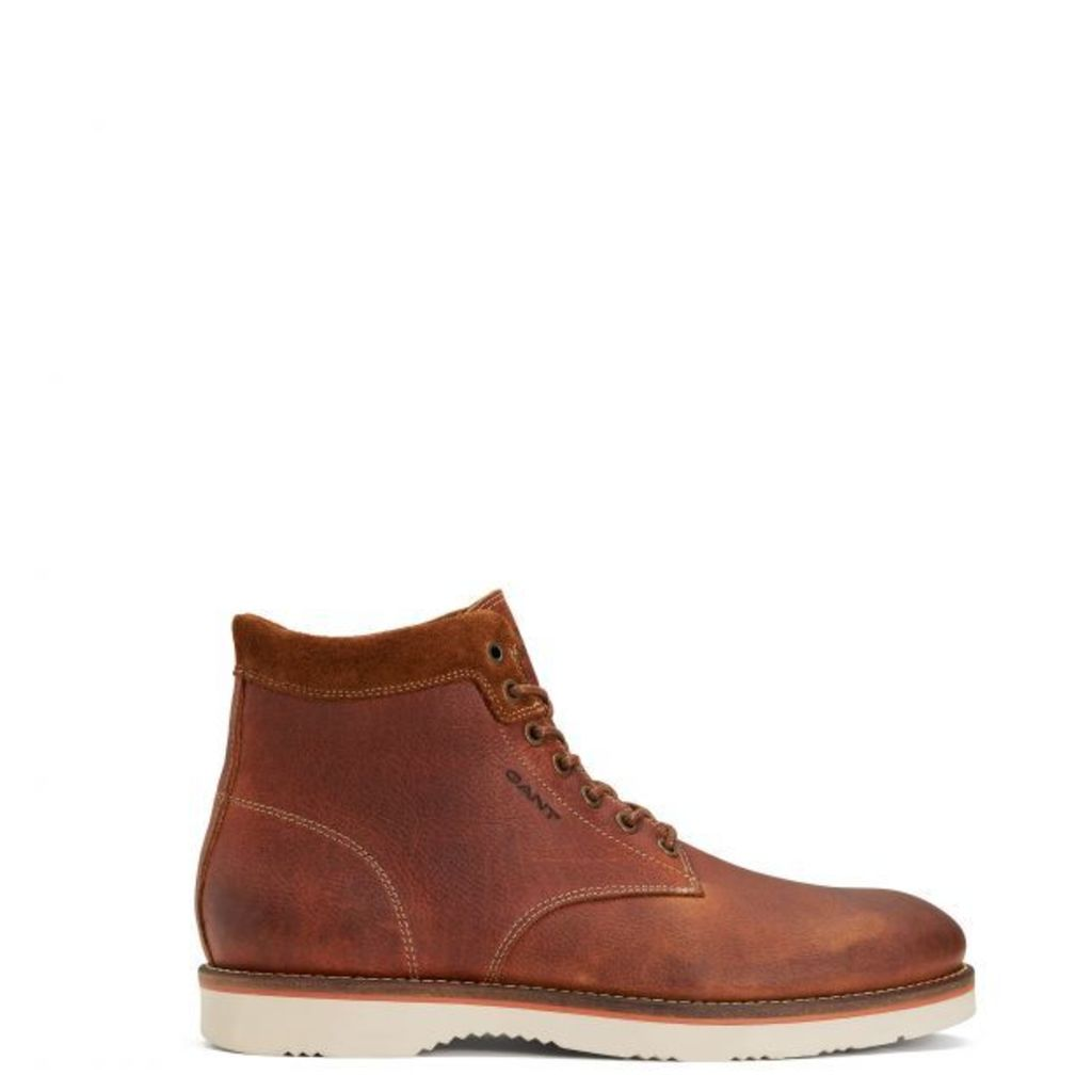 Huck High-lace Boot - Coffee