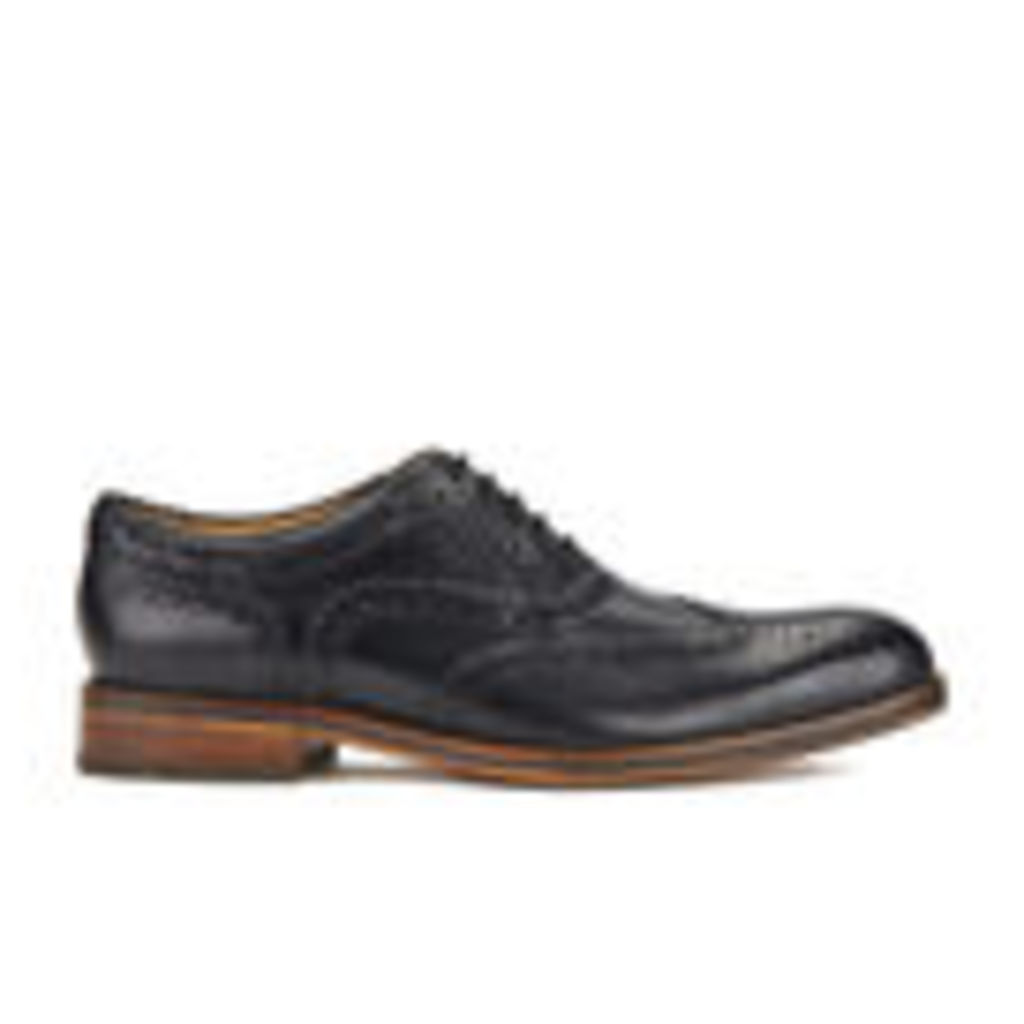 H Shoes by Hudson Men's Keating Leather Brogue Shoes - Black - UK 10