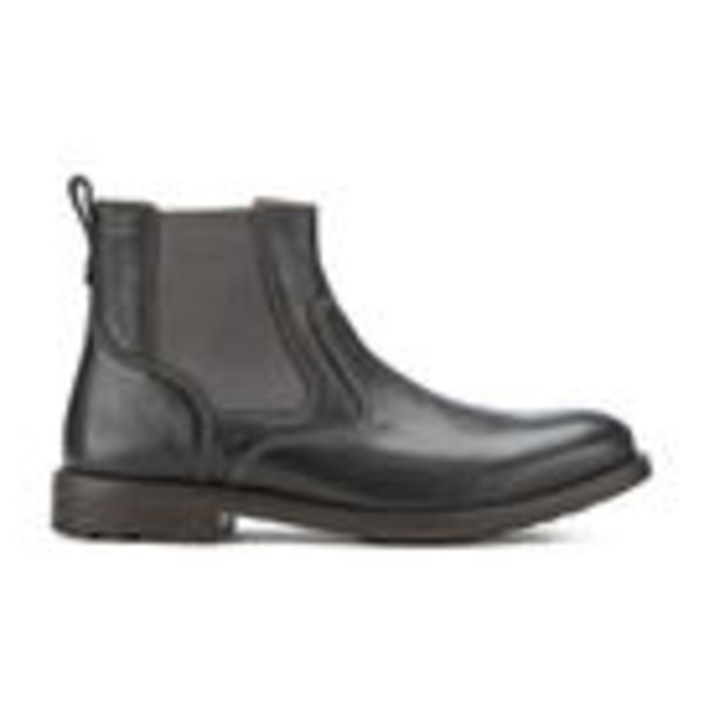 Clarks Men's Faulkner On Leather Chelsea Boots - Black - UK 8
