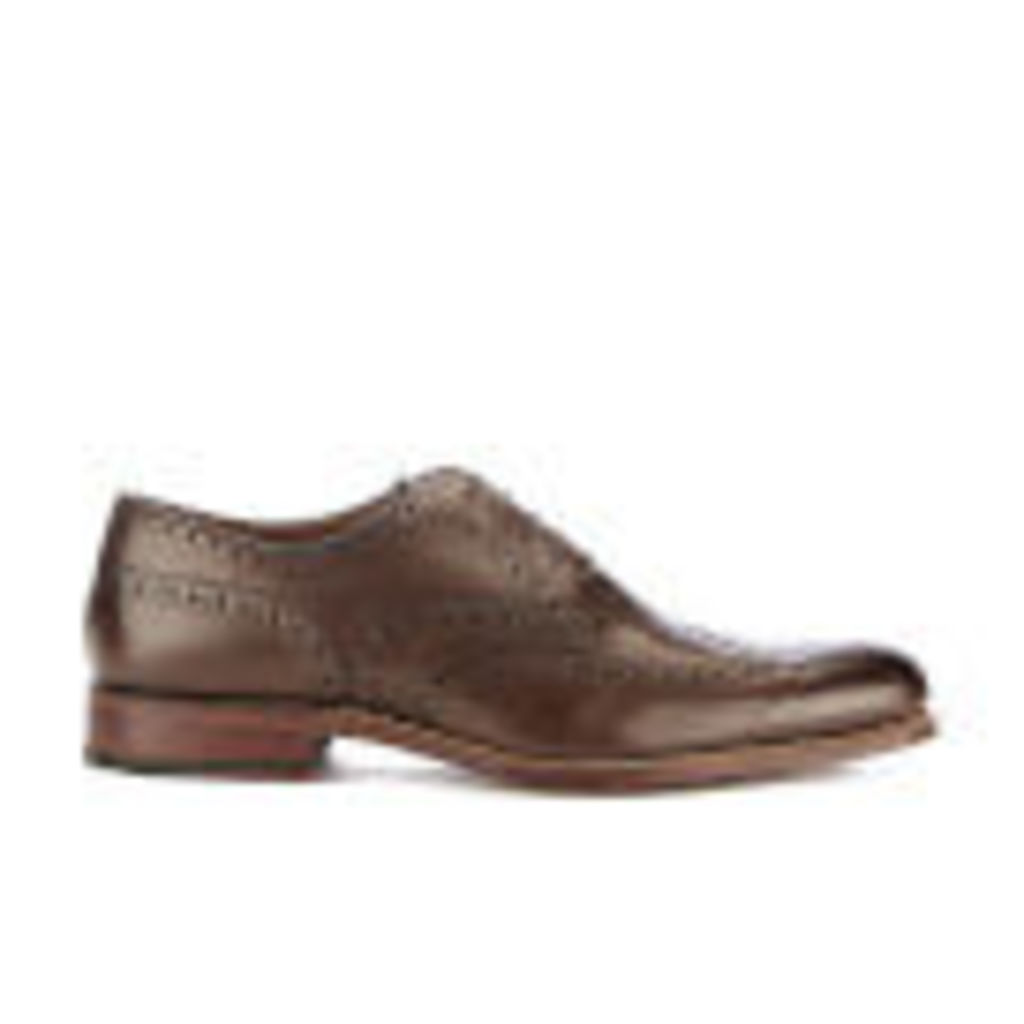 Grenson Men's Dylan Leather Brogues - Burnt Pine - UK 7