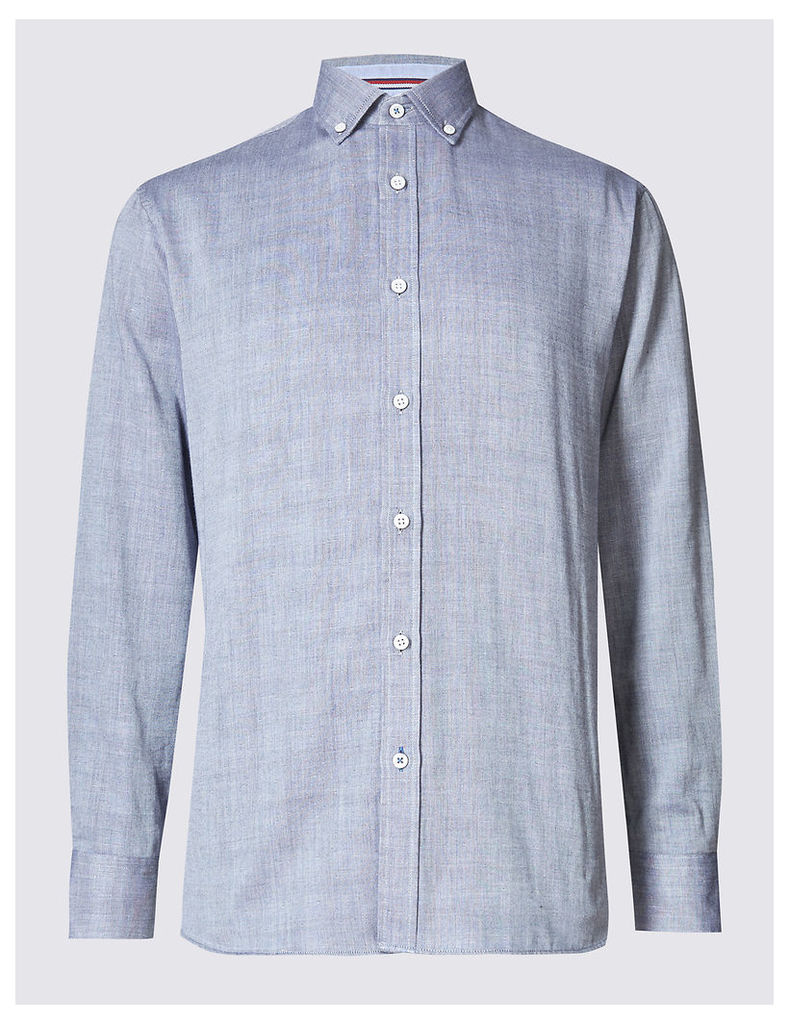 Blue Harbour Pure Cotton Checked Shirt
