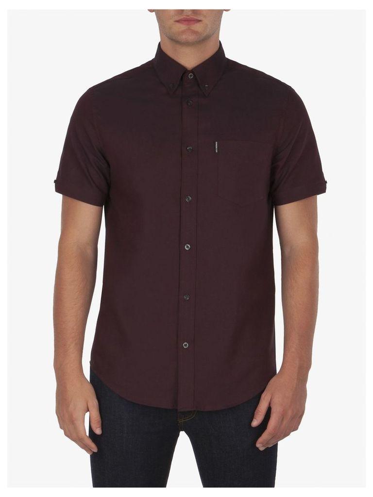 Classic Oxford Short Sleeve Shirt Med Burnt Red