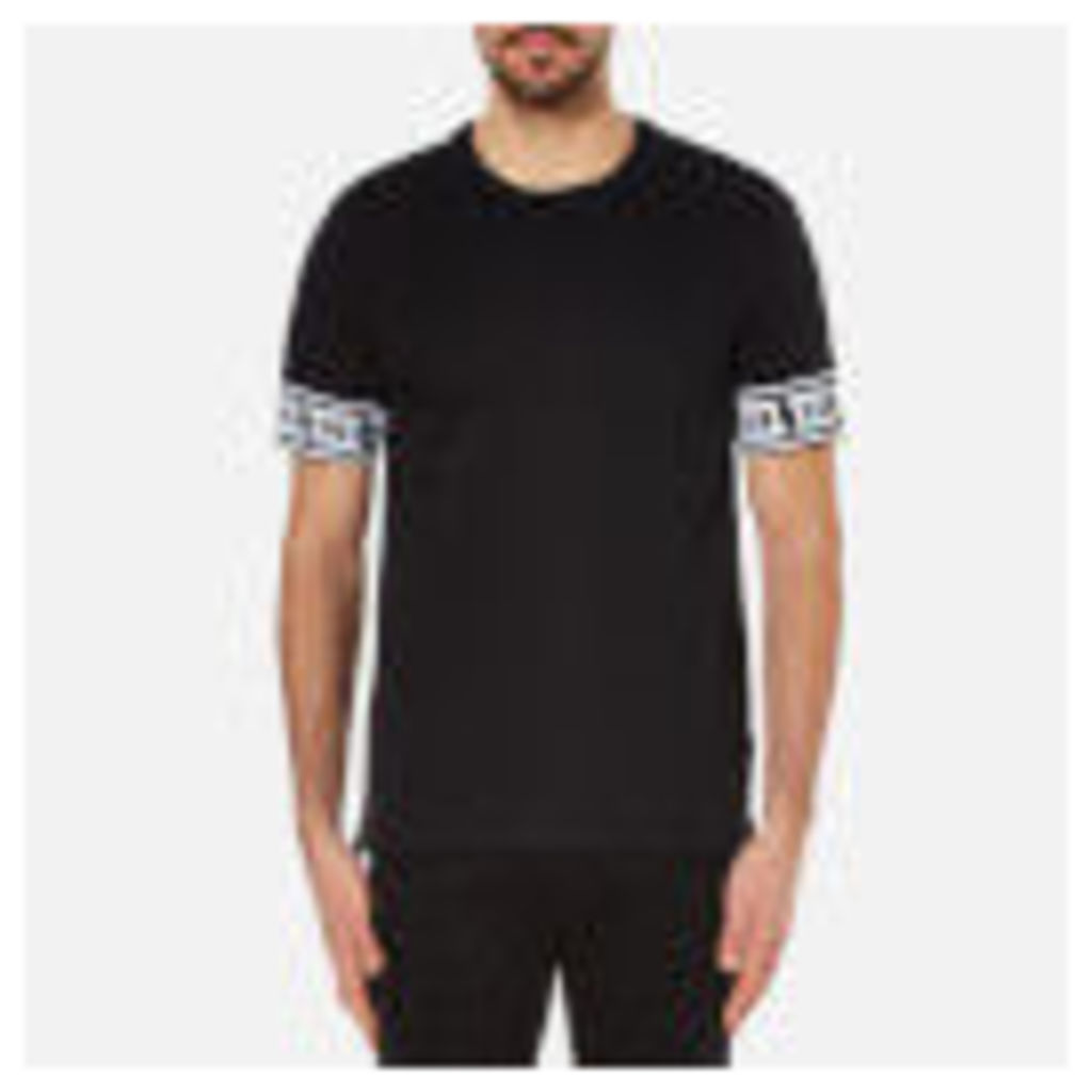 Versace Collection Men's Greek Patterned T-Shirt - Black
