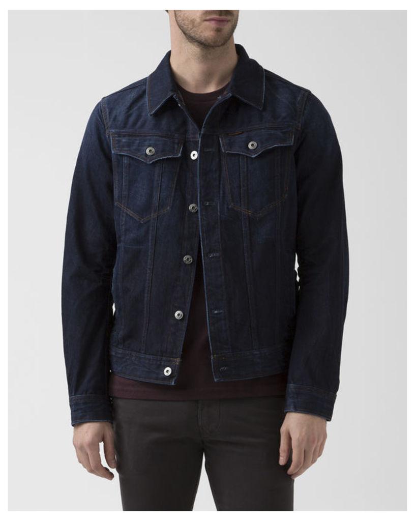 Blue Denim 3D Deconstructed Slim Jacket