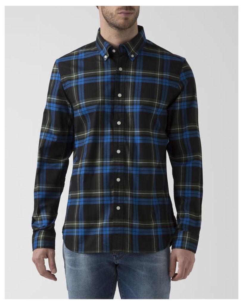Green Check Long-Sleeved Correct Shirt