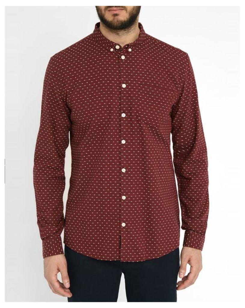 Bordeaux All Over Motif Rex Shirt