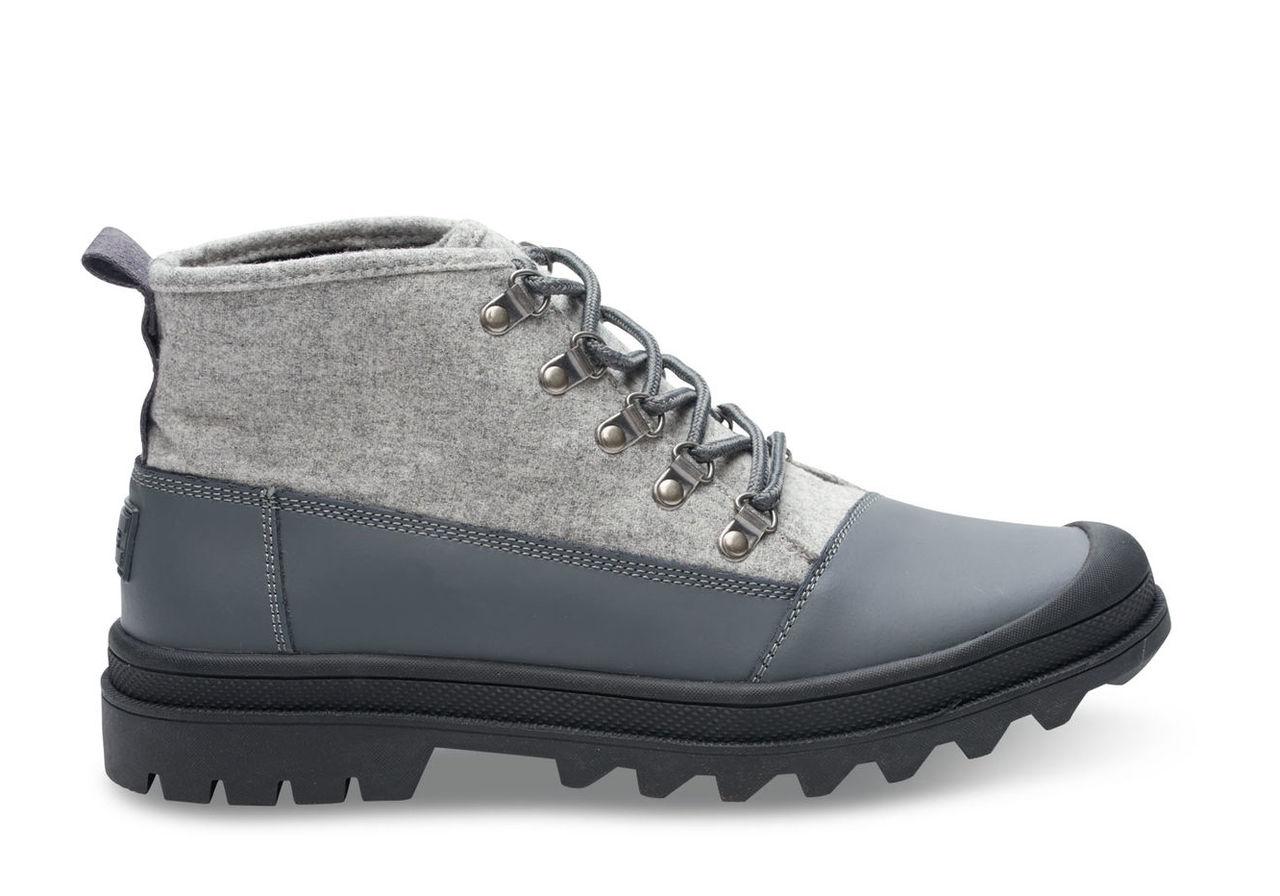 Castlerock Grey on Light Grey Wool Men's Cordova Boots