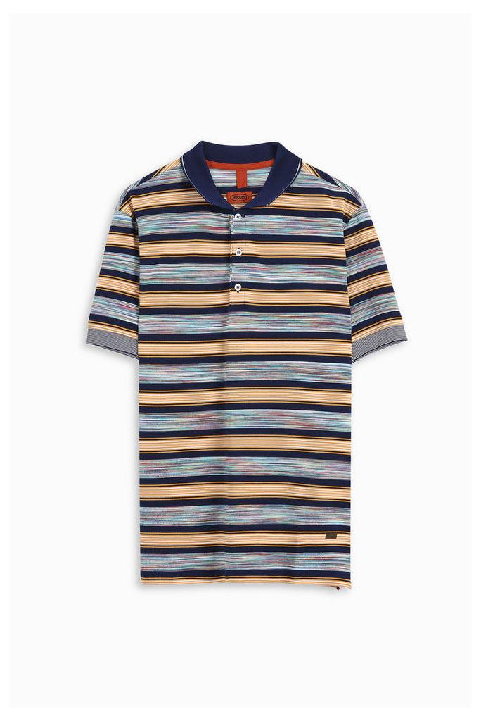 Missoni Men`s Wide Block Space Dye Polo Shirt Boutique1