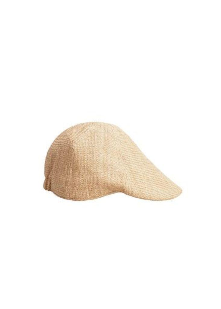 Herringbone pattern flat cap