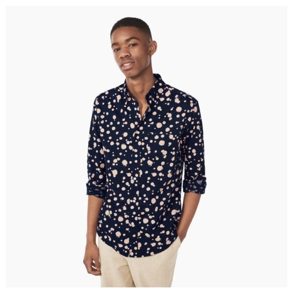 Dreamy Oxford Dot Shirt - Evening Blue