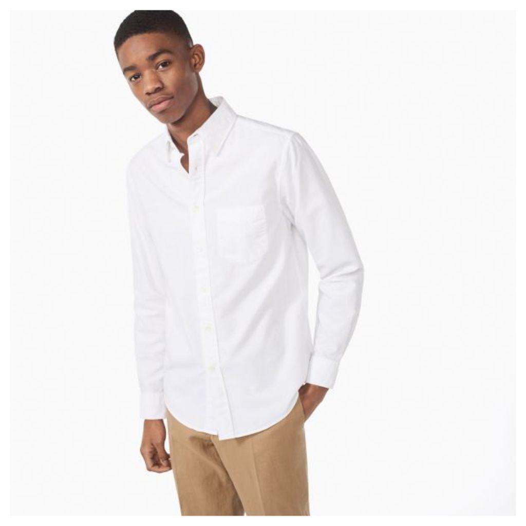 Kick-ass Slub Oxford Shirt - White