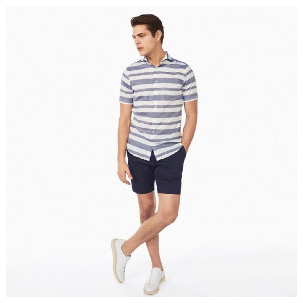 Barre Stripe Shirt - White