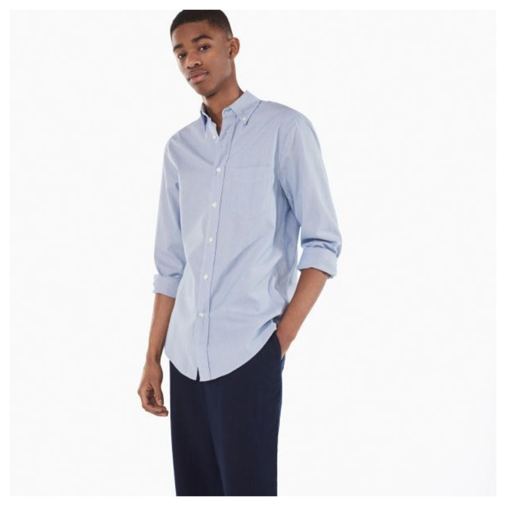 Dreamy Oxford Thin Stripe Shirt - Midnight Blue
