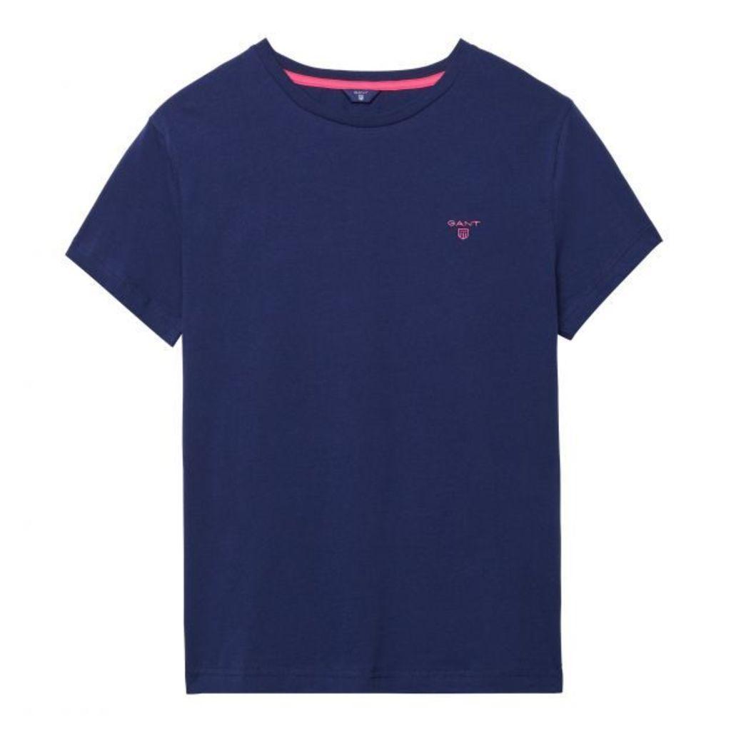 Short-sleeved Logo T-shirt - Persian Blue