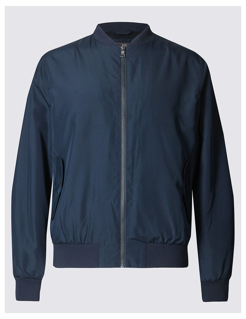 M&S Collection Baseball Bomber Jacket with Stormwear