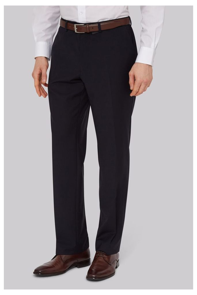 Moss Esq. Performance Regular Fit Navy Trousers