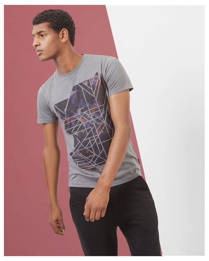 Ted Baker Abstract graphic T-shirt Grey Marl