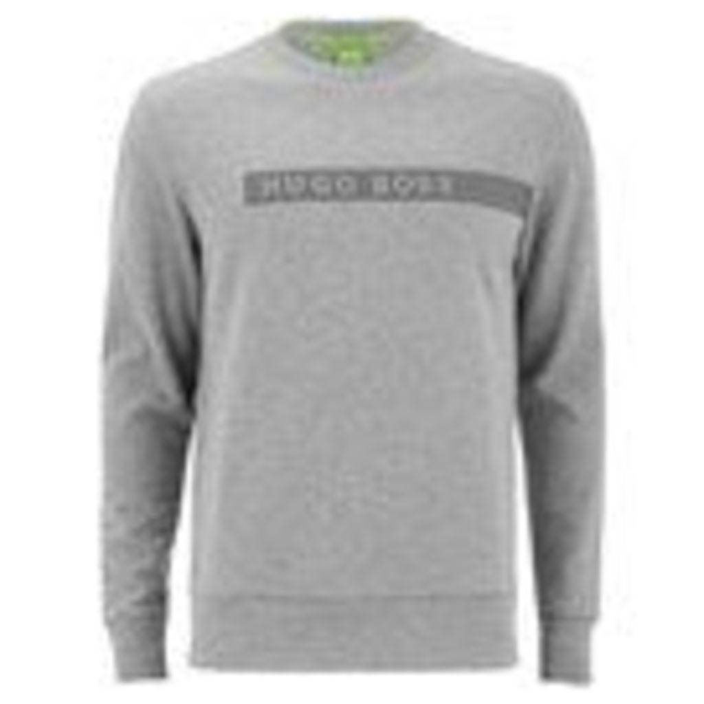 BOSS Green Men's Salbo Sweatshirt - Grey Melange - XL