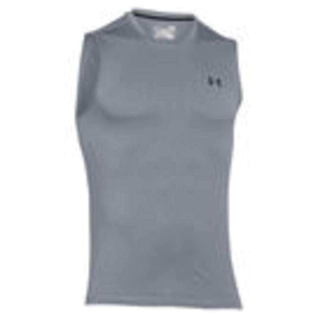 Under Armour Men's Tech Sleeveless T-Shirt - Grey - M
