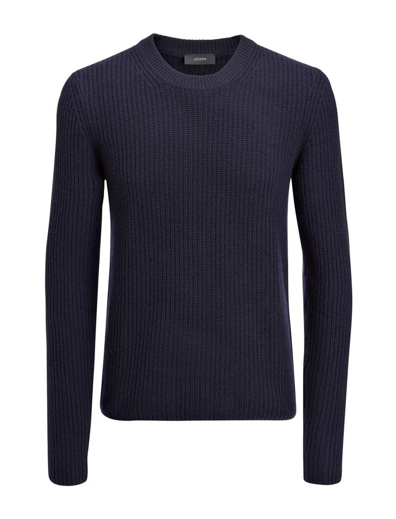 Military Cashmere Sweater in Navy