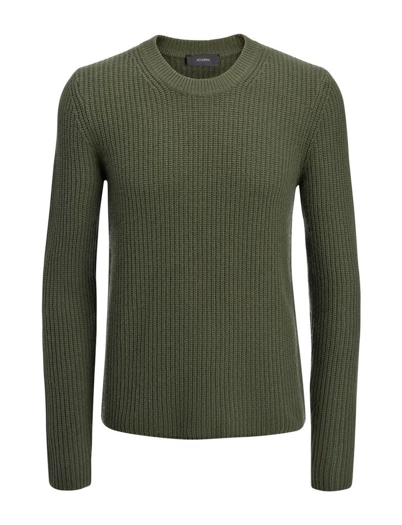 Military Cashmere Sweater in Khaki
