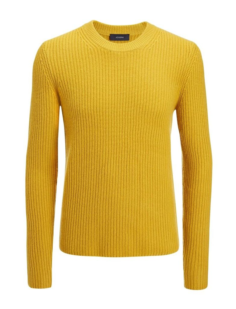 Military Cashmere Sweater in Ochre