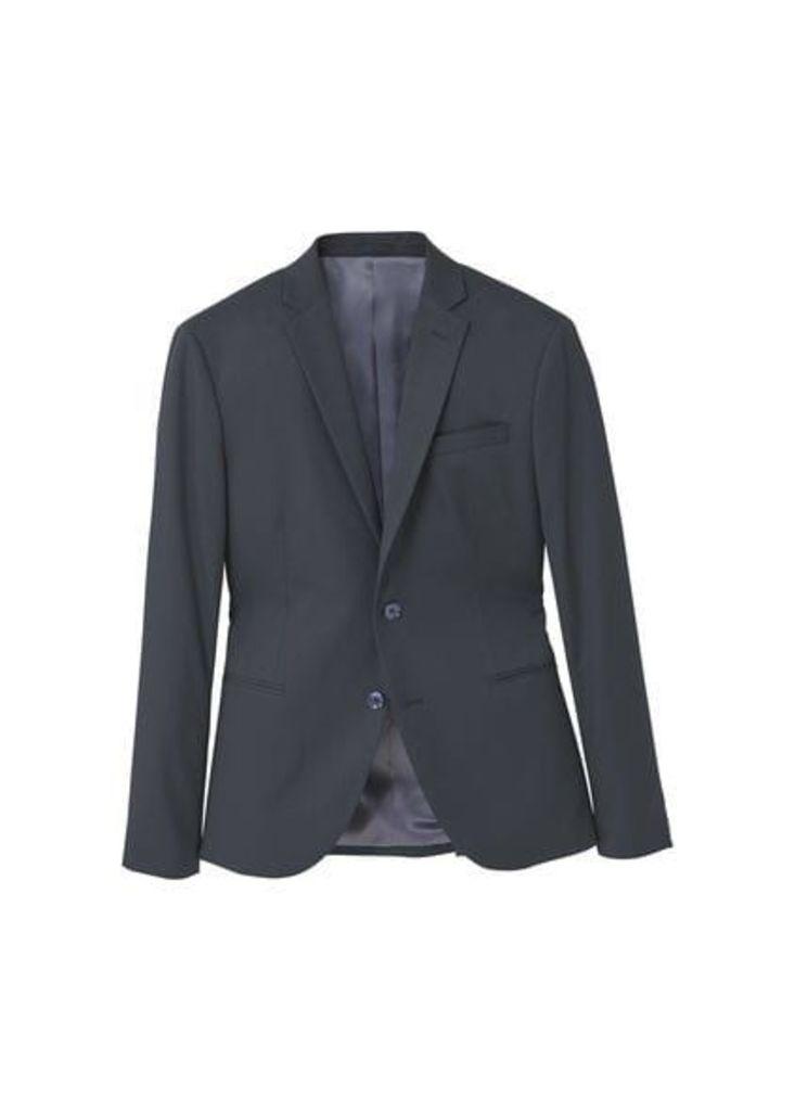 Modern slim-fit suit blazer