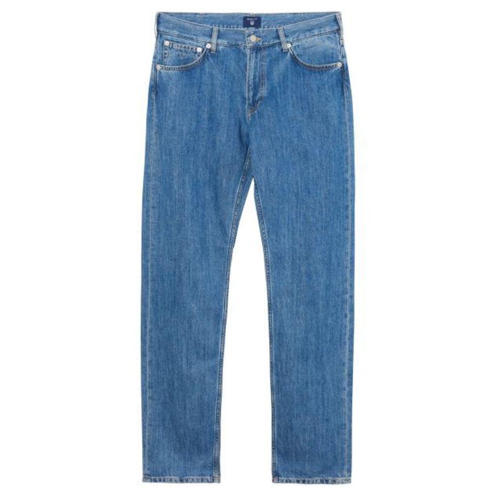 Light Indigo Jeans - Mid Blue