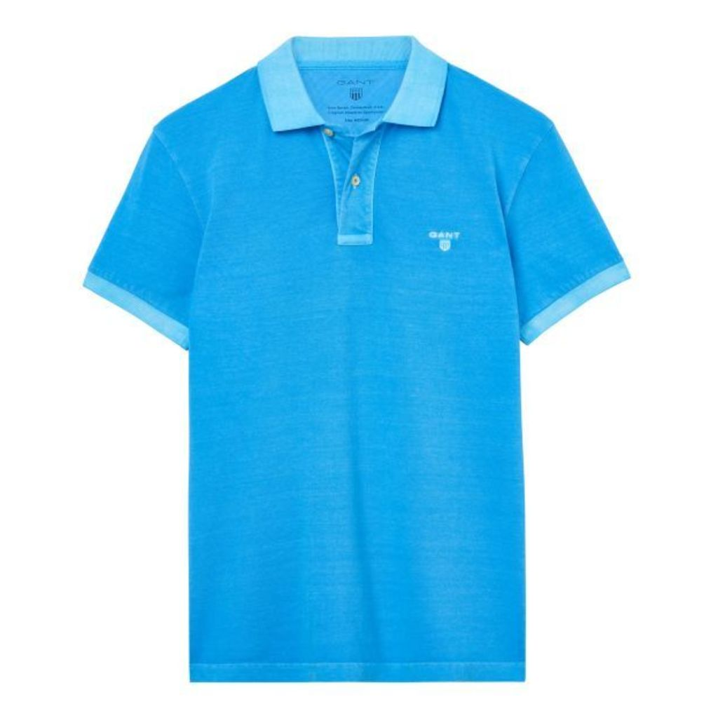Sunbleached Polo Shirt - Pool Turquoise