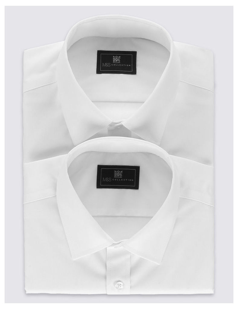 M&S Collection 2 Pack Non-Iron Shirt
