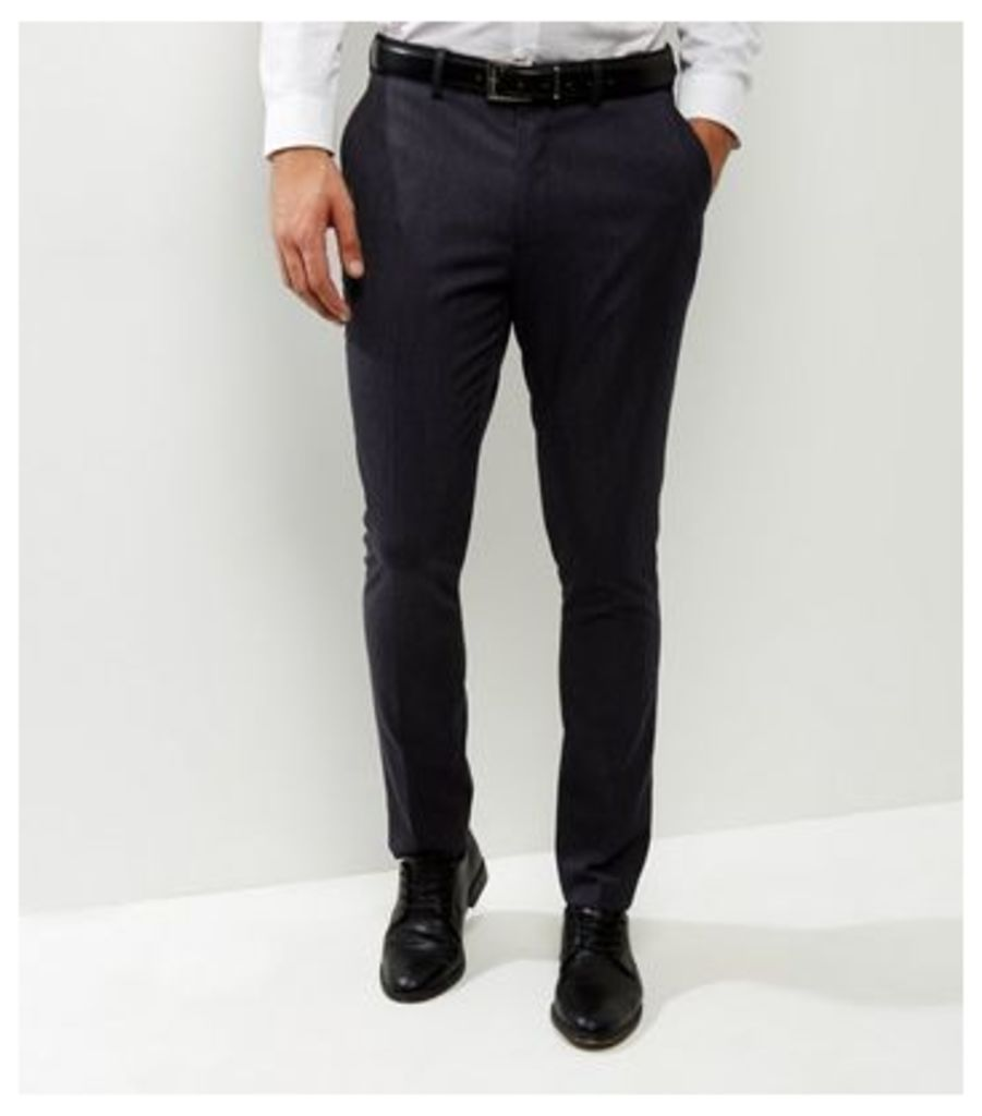 Dark Grey Slim Fit Suit Trousers