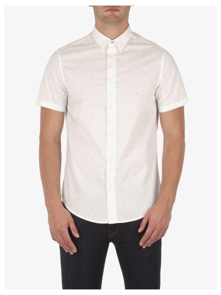 Double Triangle Print Shirt XXXL Off White