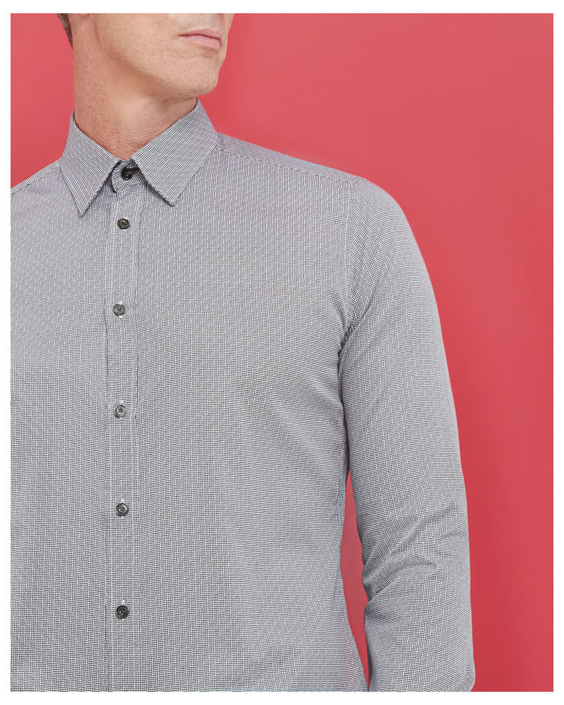 Ted Baker Wavy lines cotton shirt White