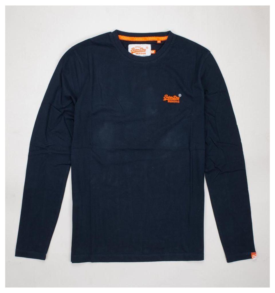 Orange Label L/S Vintage Emb T