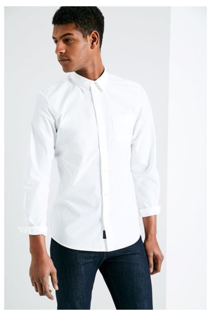 SALCOMBE END ON END SHIRT WHITE