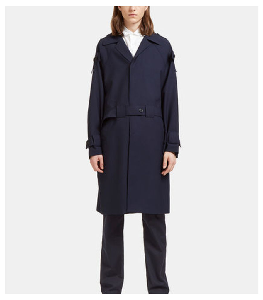 Buttoned Tab Trench Coat