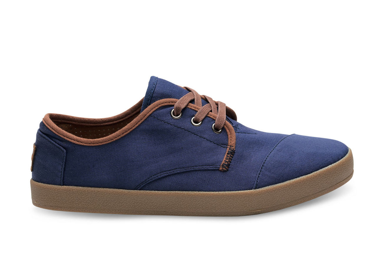 Navy Twill Trim Men's Paseo Shoes