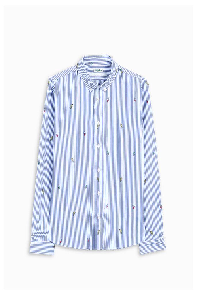 Kenzo Men`s Cartoon Striped Shirt Boutique1