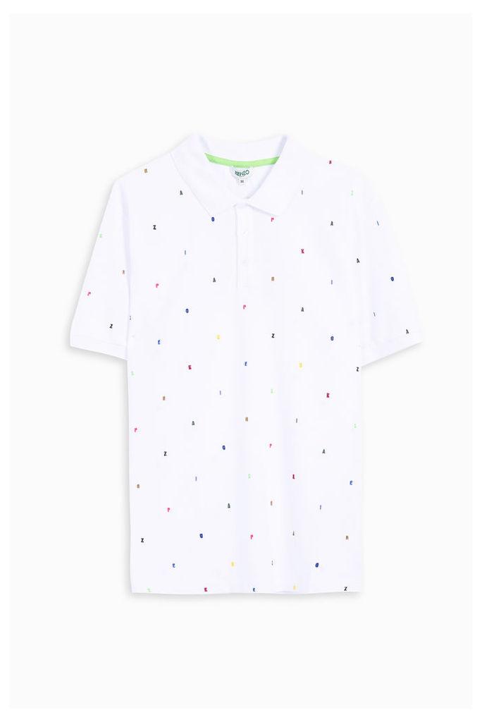 Kenzo Men`s Letter Embellished Polo Shirt Boutique1